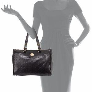 Versace Leather Black Laser-Cut Tote Bag $1590.00